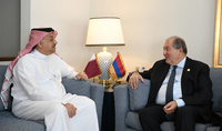 President Armen Sarkissian met with the Vice Prime Minister and Minister of Defense of Qatar Khalid bin Mohammad Al Attiyah