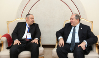 President Sarkissian discussed issues of cooperation and investments with the representative of the Qatari Businessmen Association