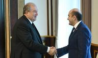 Президент Армен Саркисян встретился с представителями фракции «Просвещенная Армения»