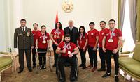 Я благодарен вам за вашу силу - Президент Саркисян принял членов Федерации спорта инвалидов РА
