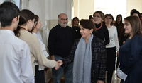 Spouse of the President Mrs. Nouneh Sarkissian visited the Hakop Kojoyan educational center