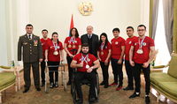 President Sarkissian hosted members of the Armenian National Federation of Disabled Sports: I thank you for your strong spirit
