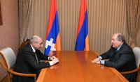 Президент Саркисян в Степанакерте встретился с Президентом Республики Арцах Бако Саакяном