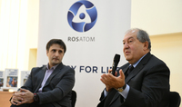 President Sarkissian in the framework of More for Metsamor project was hosted at the N. 2 High School of Metsamor