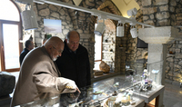 President Armen Sarkissian and Mrs. Nouneh Sarkissian visited the State Geological Museum of Shushi