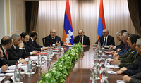President Armen Sarkissian was present at the joint session of the Security Councils of Armenia and Artsakh