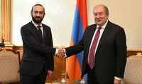 President Armen Sarkissian met with the Speaker of the National Assembly Ararat Mirzoyan