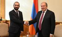 Президент Армен Саркисян встретился с Председателем Национального Собрания Араратом Мирзояном