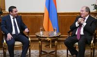 Նախագահ Արմեն Սարգսյանը ընդունել է ՀՅԴ Հայաստանի Գերագույն մարմնի պատվիրակությանը