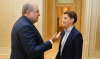Հայ-սերբական հարաբերությունները քայլ առ քայլ առաջընթաց են գրանցում. փաստել են Հայաստանի նախագահն ու Սերբիայի վարչապետը