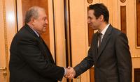 Президент Саркисян встретился с Мэром Еревана