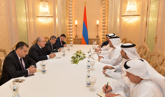 Ожидается долгосрочное и результативное сотрудничество. Президент Армен Саркисян в ОАЭ встретился с Исполнительным директором экономического совета «Тавазун»