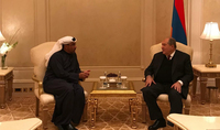 President Armen Sarkissian in Abu Dhabi met with the Co-Chair of Armenia-UAE intergovernmental commission: the commission is a platform for the development of bilateral ties
