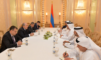 President Armen Sarkisisan in UAE met with the Executive Director of Tawazun Economic Council: there will be a lasting and efficient cooperation