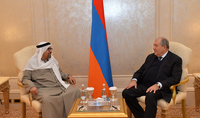 President Armen Sarkissian met in Abu Dhabi with the President of the ROTANA HOTEL MANAGEMENT CORPORATION