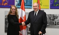 Հայ-կանադական հարաբերություններն ապագայի շատ ավելի մեծ ներուժ ունեն․Հայաստանի նախագահ Արմեն Սարգսյանը հանդիպել է Կանադայի գեներալ-նահանգապետ Ժուլի Պայետի հետ