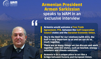 We as a state, I as a president, are ready to bring our contribution to the establishment of a dialogue and tolerance in the region. President of the Republic of Armenia Armen Sarkissian's interview to the WAM news agency (UAE)