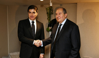 President Sarkissian in the framework of the Forum in Davos met with the President of Iraqi Kurdistan: Armenia attaches importance to the development of multifaceted relations with the friendly Iraq, including Iraqi Kurdistan
