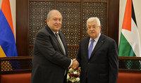 Նախագահ Արմեն Սարգսյանը հանդիպել է Պաղեստինի Ազգային իշխանության նախագահ Մահմուդ Աբասի հետ