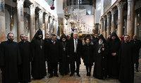 «Աշխարհն ավելի ու ավելի է Աստծո հավատքի և մարդկային արժեքների գնահատման կարիքն ունենում». նախագահ Սարգսյանը և տիկին Նունե Սարգսյանն այցելել են Բեթղեհեմի Սուրբ Ծննդյան տաճար