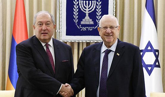 Կարևոր է, որ Իսրայելն առաջնային դեր ունենա և ճանաչի Հայոց ցեղասպանությունը․ Հայաստանի նախագահ Արմեն Սարգսյանը հանդիպել է Իսրայելի նախագահ Ռեուվեն Ռիվլինի հետ