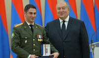 President Armen Sarkissian handed high state awards on the occasion of the Army Day: We say state, we mean also army; we say powerful army, we mean powerful state