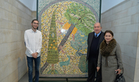 President Armen Sarkissian and Mrs. Nouneh Sarkissian at the Rockefeller Archeological Museum in Jerusalem observed a collection of Armenian porcelain: this is an indivisible part of the Holy City's cultural landscape
