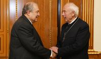 Հանրապետության նախագահ Արմեն Սարգսյանն ընդունել է Կարլ Հայնց Շայդեին