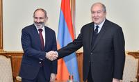 Состоялась очередная рабочая встреча Президента Армена Саркисяна и Премьер-министра Никола Пашиняна