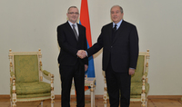 Newly appointed Ambassador of Slovenia presented his credentials to President Armen Sarkissian: Armenia and Slovenia as small but successful countries have a strong base for expanding the relations