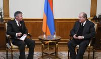 Президент Армен Саркисян принял Директора армянского офиса Азиатского банка развития (АБР) Паоло Спантигати