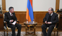 President Armen Sarkissian received Head of the Armenian Office of Asian Development Bank Paolo Spantigati