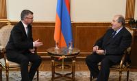 Президент Армен Саркисян принял посла Королевства Швеции в Армении Ульрика Тидестрома