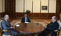 President Armen Sarkissian received Ambassador of Italy to Armenia Vincenzo Del Monaco