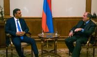 Նախագահ Արմեն Սարգսյանն ընդունել է Հայաստանի մարդու իրավունքների պաշտպան Արման Թաթոյանին