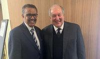 Նախագահ Սարգսյանը Մյունխենում  հանդիպել է Առողջապահության համաշխարհային կազմակերպության գլխավոր տնօրենի հետ