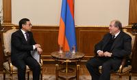 Հանրապետության նախագահ Արմեն Սարգսյանն ընդունել է Հայաստանում Չինաստանի դեսպան Թիան Էրլունին