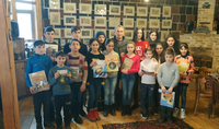 President Sarkissian presented books to over 118 kids from different marzes