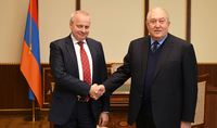President Armen Sarkissian received the Ambassador Extraordinary and Plenipotentiary of the Russian Federation in Armenia Sergei Kopyrkin