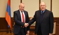 Президент Армен Саркисян принял Чрезвычайного и полномочного посла Российской Федерации в Республике Армения Сергея Копыркина