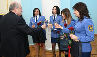 Festive reception at the Presidential Palace