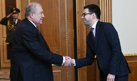 President Armen Sarkissian met with the Minister of Justice Rustam Badassian