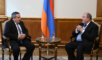President Armen Sarkissian met with the Head of the Food Safety Inspectorate: stressed was the importance of enhancing control on food safety and sanitary conditions at the eateries