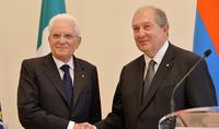 Նախագահ Արմեն Սարգսյանը հեռախոսազրույց է ունեցել Իտալիայի Հանրապետության նախագահ Սերջիո Մատարելլայի հետ