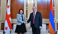 President Armen Sarkissian sent a congratulatory message to the President of Georgia on the occasion of her birth anniversary