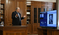 President Armen Sarkissian conducted a distant learning class for students and gave an assignment related to the coronavirus: selfisolation or staying home is an excellent opportunity to ponder, learn, and develop