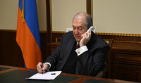 President Sarkissian spoke on the phone with the well-known Armenian-American businessman and benefactor Noubar Afeyan