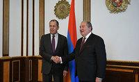 Президент Армен Саркисян поздравил Сергея Лаврова с 70-летием