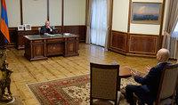 Президент Армен Саркисян принял Председателя Армянского благотворительного общего союза (АБОС) от Армении Вазгена Якубяна