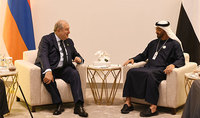 Президент Саркисян имел телефонный разговор с наследным принцем Абу-Даби, заместителем Главнокомандующего Вооружёнными силами Объединённых Арабских Эмиратов шейхом Мохаммадом бин Зайдом Аль Нахайяном